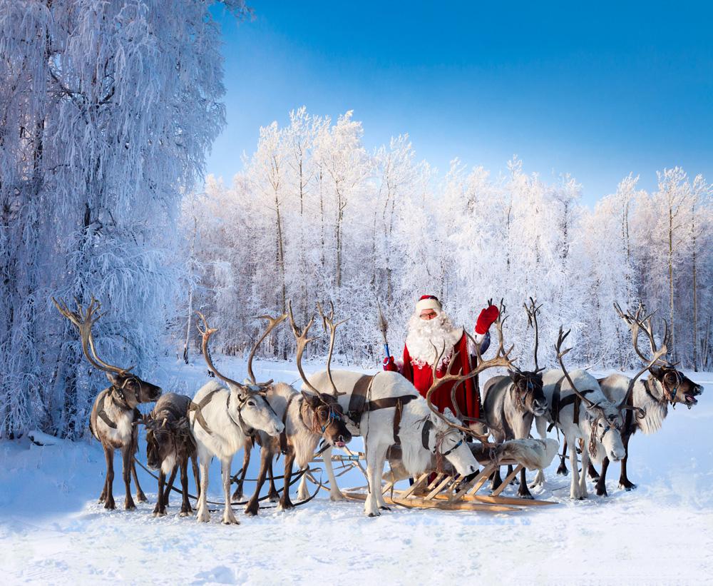 Lapland, Santa and reindeer