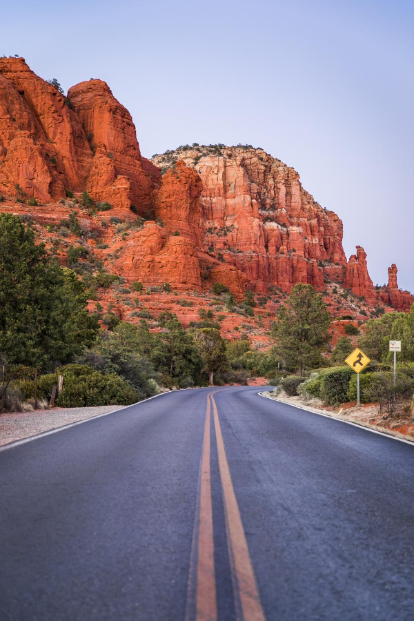 Empty road in USA