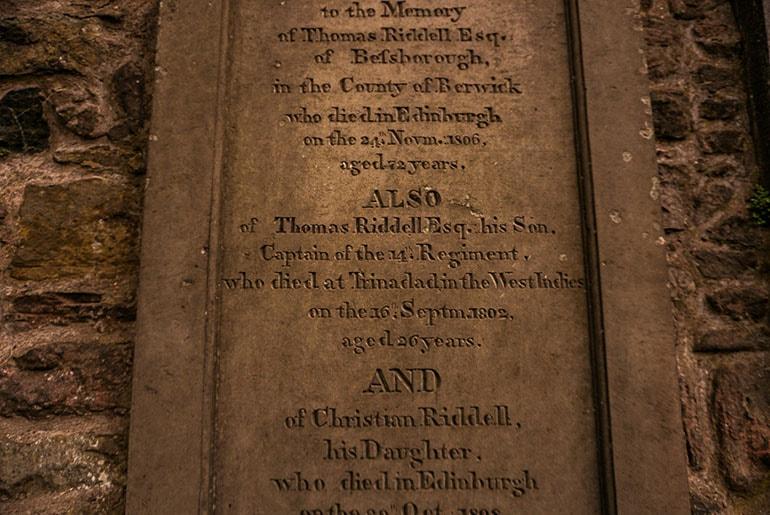 Tom Riddle's graveyard