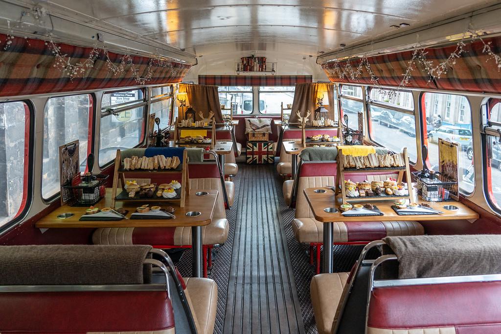 Themed Harry Potter Bus interior
