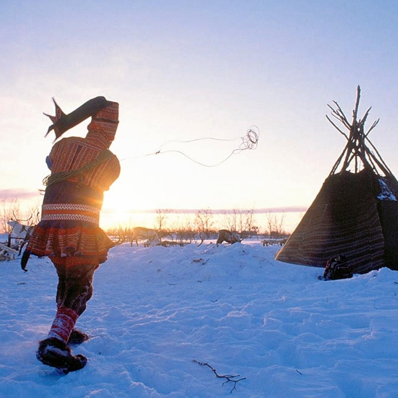 Sami tribespeople Arctic