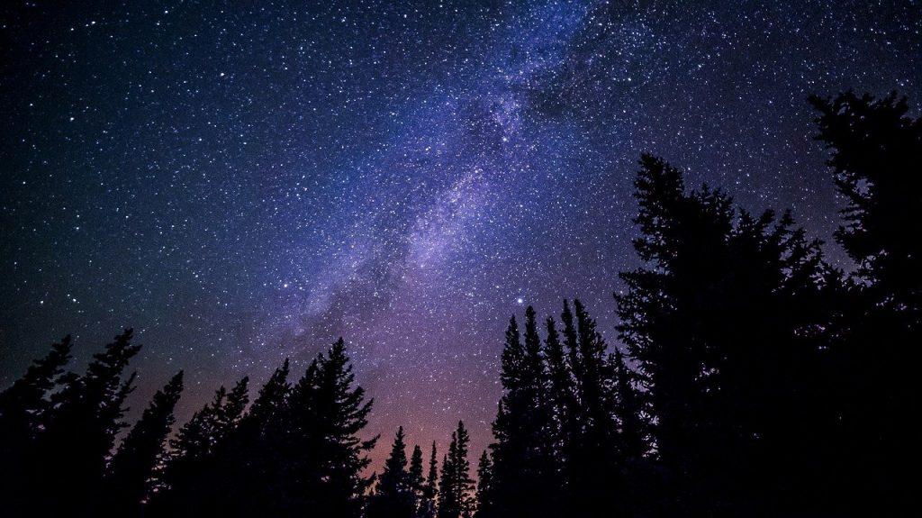 milky way, galaxy, night