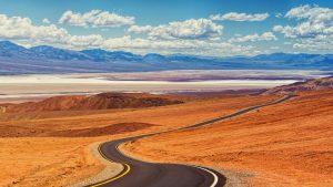 death valley, road, landscape