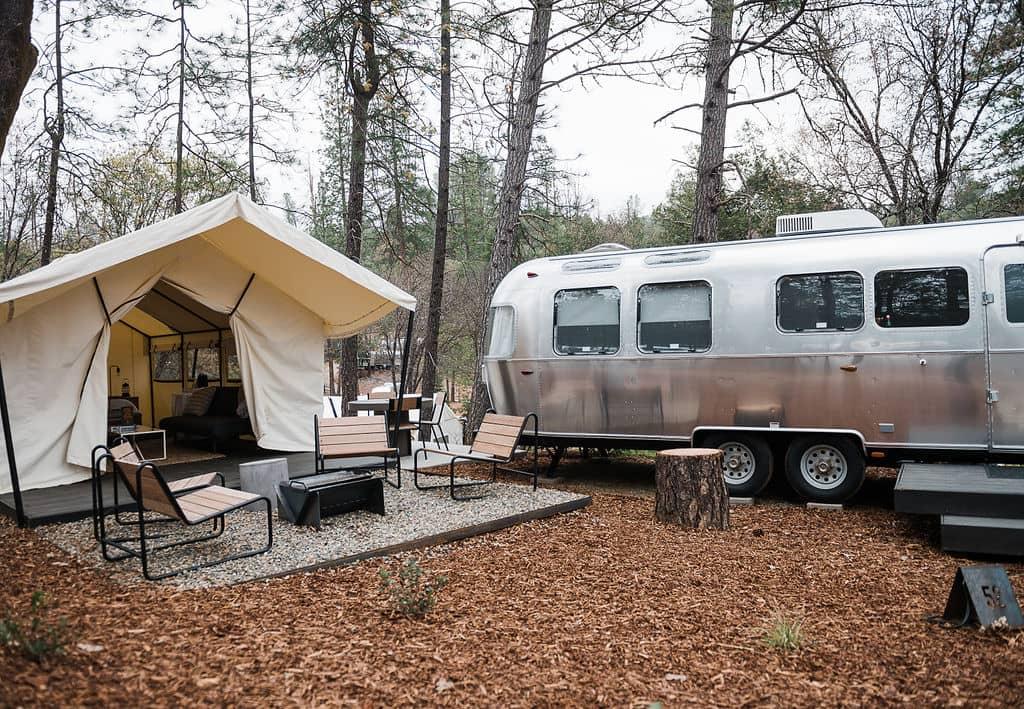 Airstream caravan and campsite
