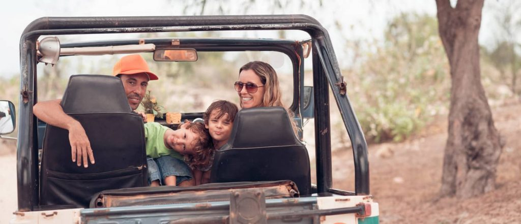 Family in a Jeep