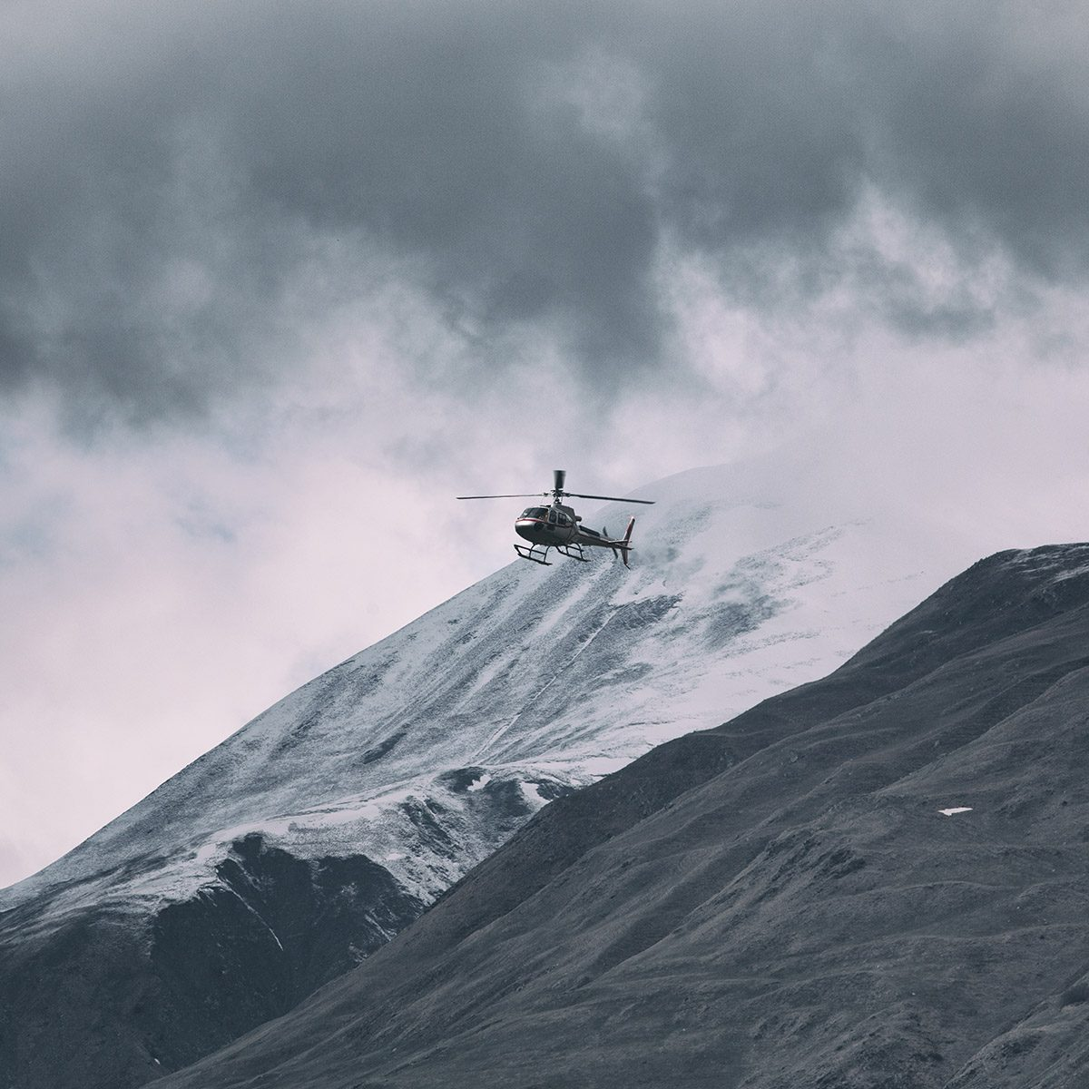 Helicopter in the Scottish Highlands