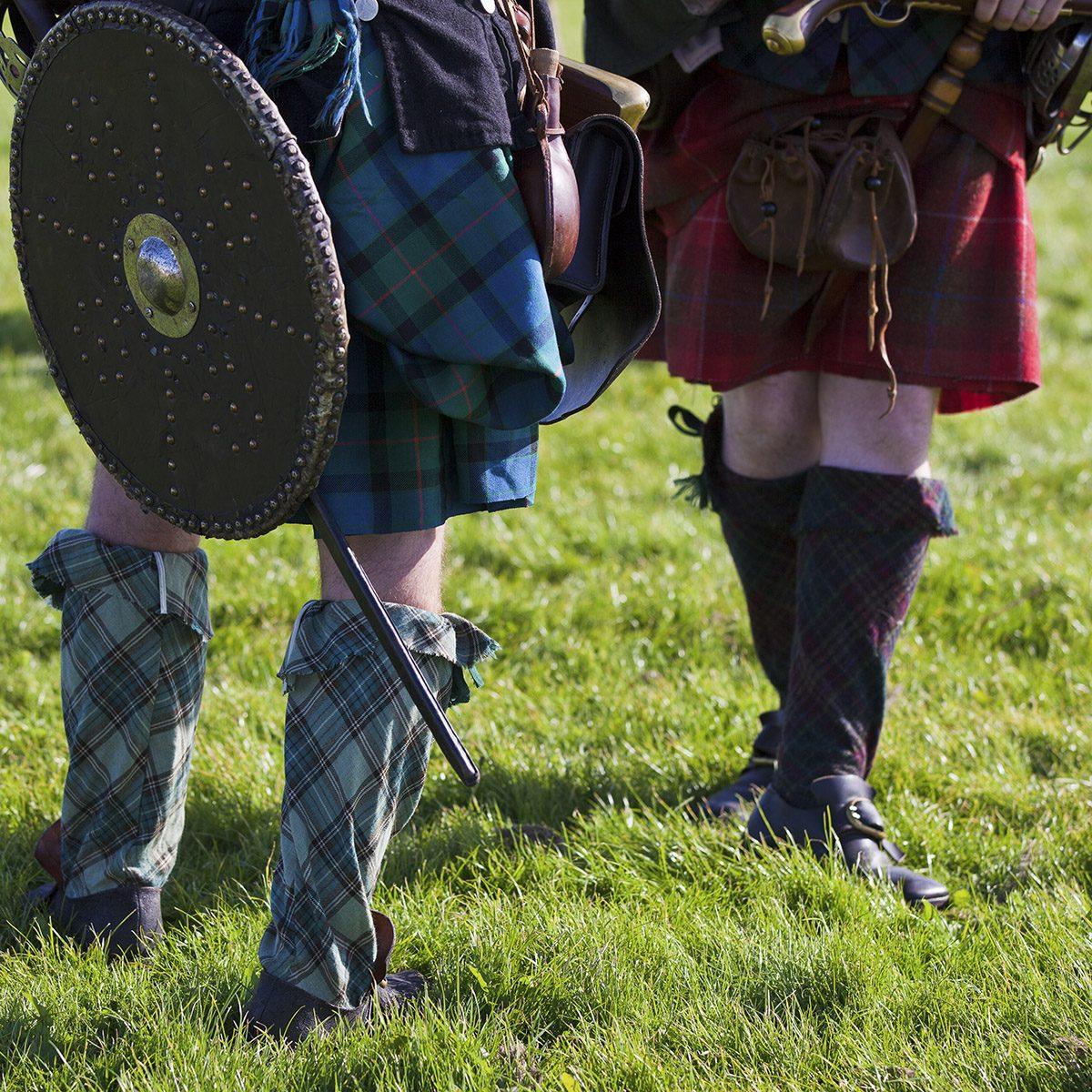 Scottish tartan kilts